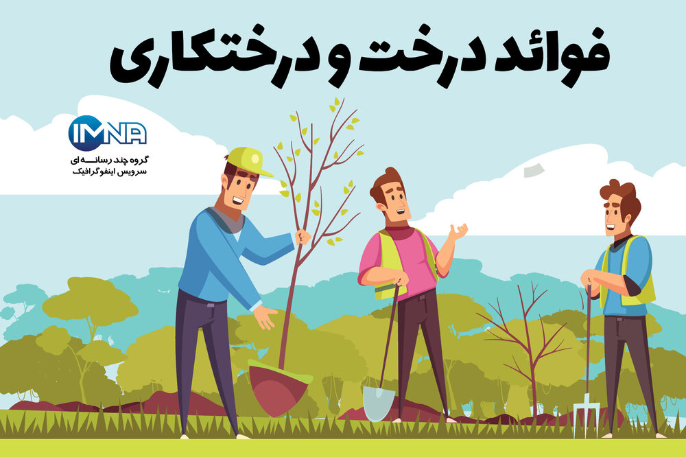 فواید درخت و درختکاری/ اینفوگرافیک