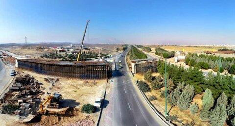 پیشرفت ۴۷ درصدی احداث پل تقاطع غیرهمسطح شهید کشوری