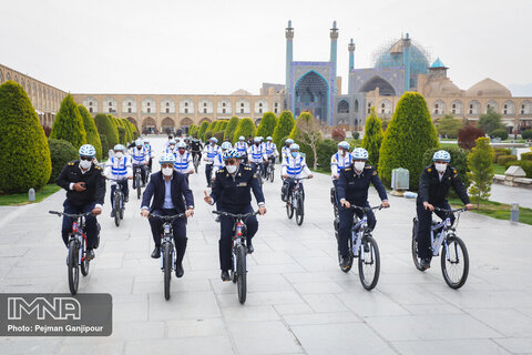 Traffic Bicycle Patrols Show up in Isfahan's streets