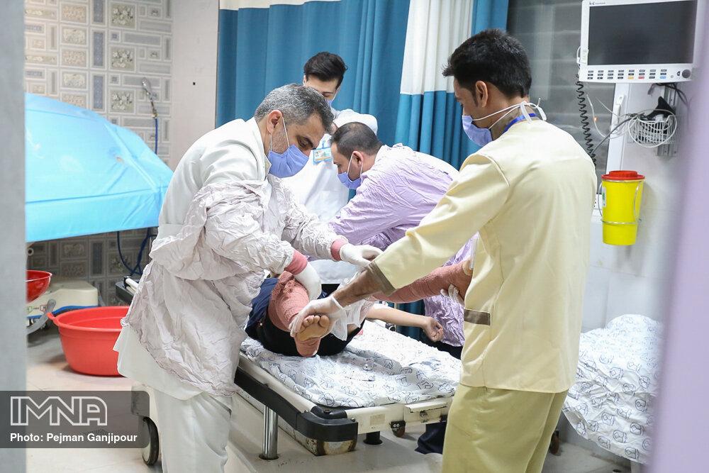 مصدومان بیمارستانی حوادث چهارشنبه سوری به ۲۵ نفر رسید