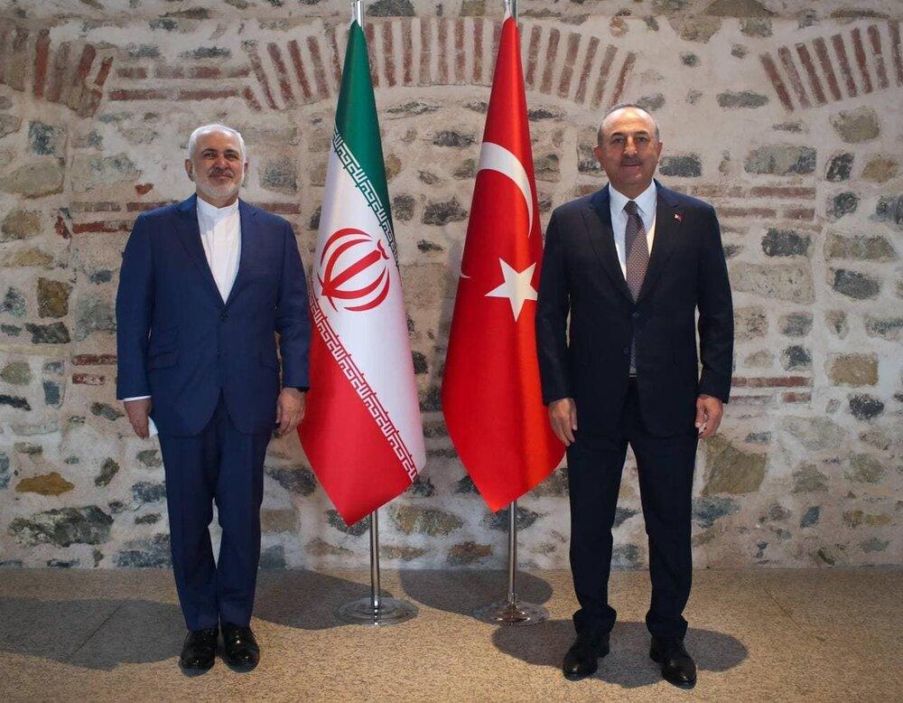 گفتوگوی ظریف با چاووشاوغلو در خصوص تحولات سوریه و مبارزه با تروریسم