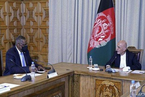 وزیر دفاع آمریکا با اشرف غنی دیدار کرد