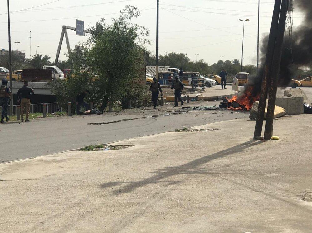 انفجار تروریستی در بغداد + عکس