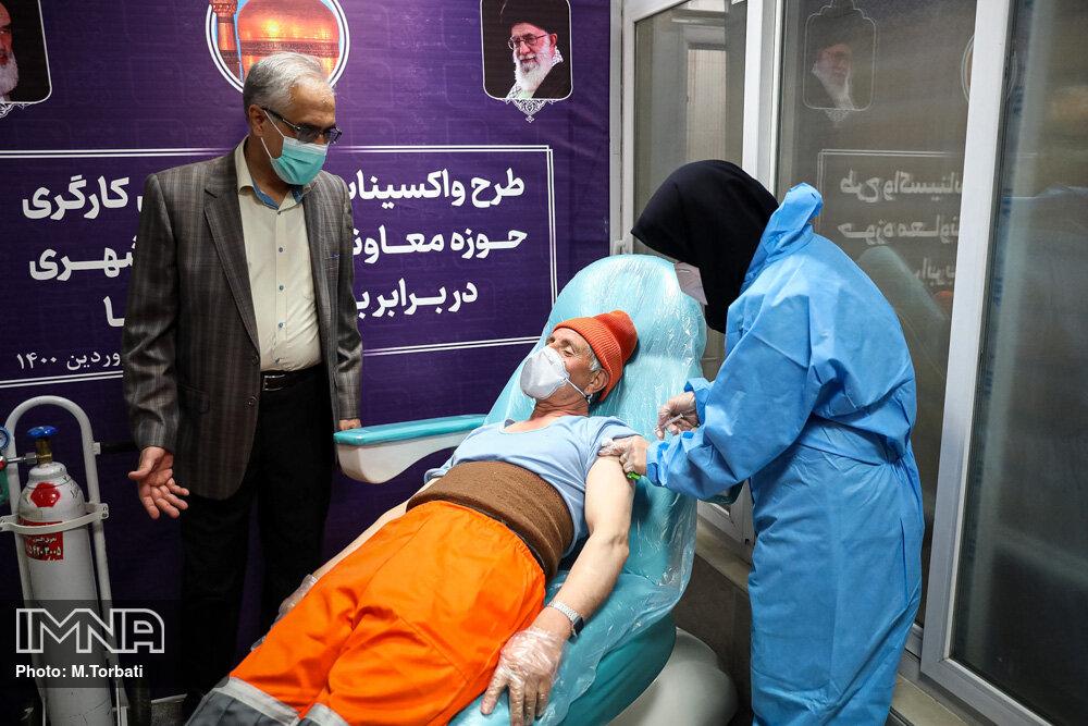 آغاز واکسیناسیون پاکبانان در مشهد