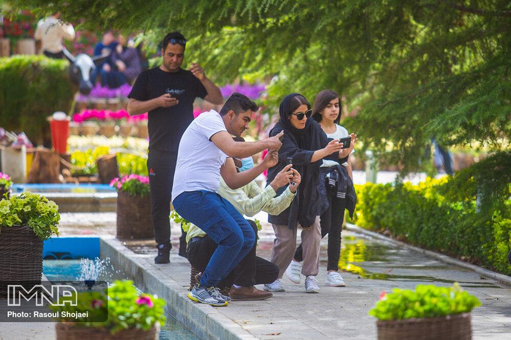باغ گلهای اصفهان در نوروز ۱۴۰۰