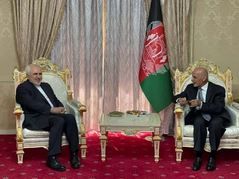 ظریف و رییس جمهوری افغانستان روند صلح در این کشور را بررسی کردند