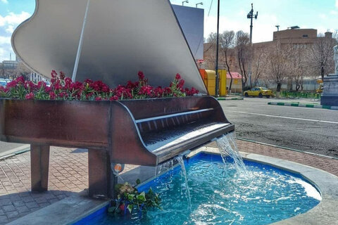 برچیده شدن المان پیانو در تبریز و واکنش عضو شورا