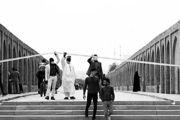 عبور مردم از محدودیت ها در اصفهان