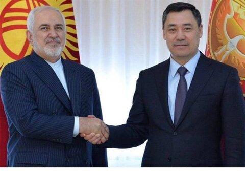 توئیت ظریف پس از سفر به قرقیزستان