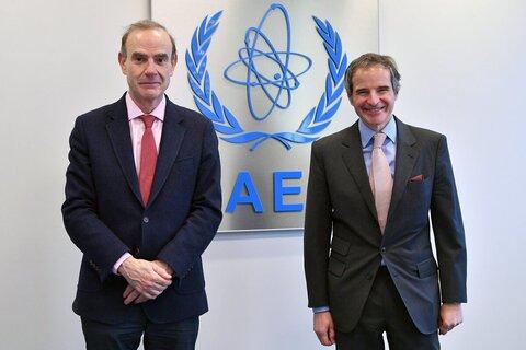 گفتوگوی گروسی با نماینده اتحادیه اروپا درباره برجام