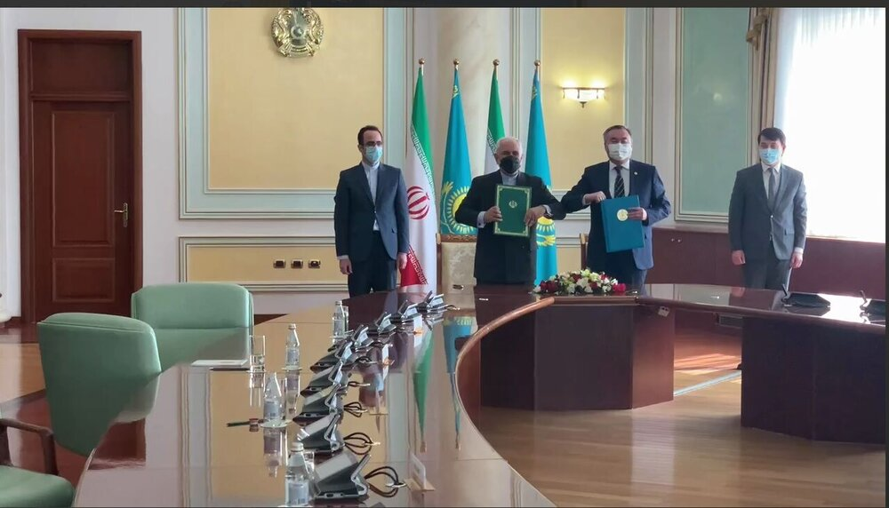 برنامه همکاری ایران و قزاقستان امضا شد