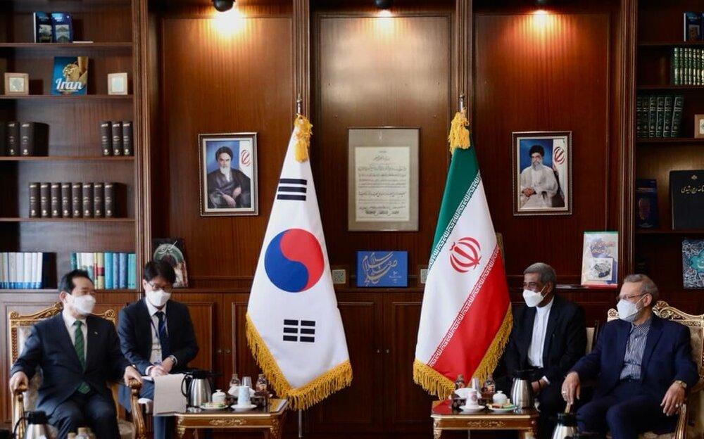 نخست وزیر کره جنوبی با علی لاریجانی دیدار کرد
