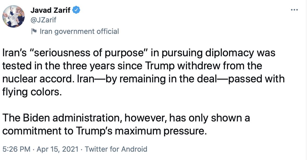 بایدن تاکنون تنها تعهدش به فشار حداکثری ترامپ را نشان داده است