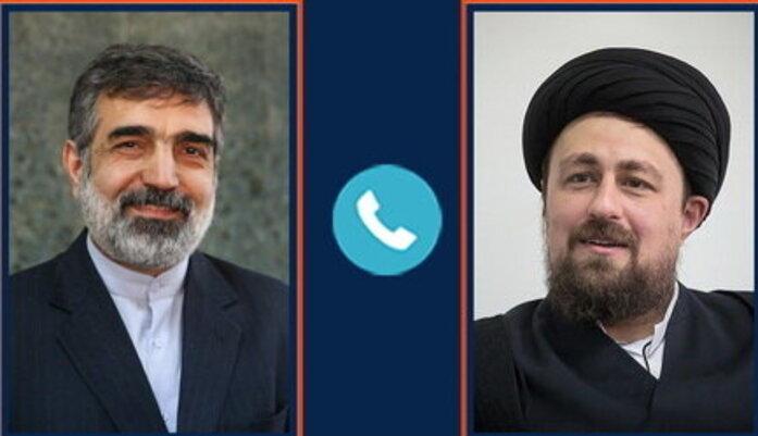 احوالپرسی تلفنی سیدحسن خمینی از بهروز کمالوندی