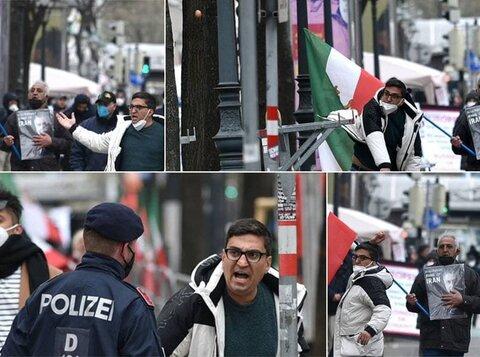 حمله اعضای گروهکهای ضدانقلاب در محل مذاکرات ایران و ۱+۴