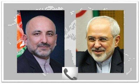 ظریف بر حمایت همهجانبه ایران از روند صلح افغانستان تاکید کرد