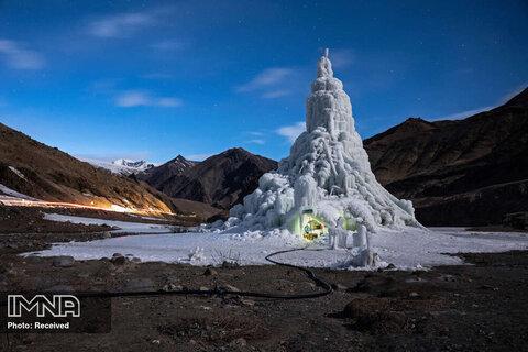 رتبه سوم بهترین داستان تصویری محیط زیست ساخت استوپای یخی در شمال هند به عنوان راهکاری برای مبارزه با تغییرات اقلیمی