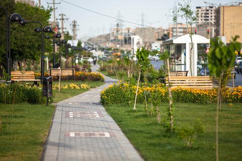 احداث پارک خطی در خادم آباد باغستان