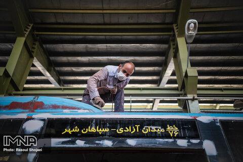 بازسازی اتوبوس های شهری اصفهان