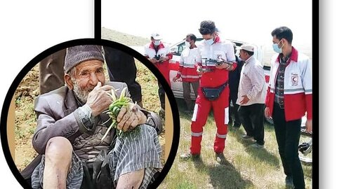 نجات شگفت انگیز مرد ۹۴ ساله بعد از ۳ روز سرگردانی در کوهستان