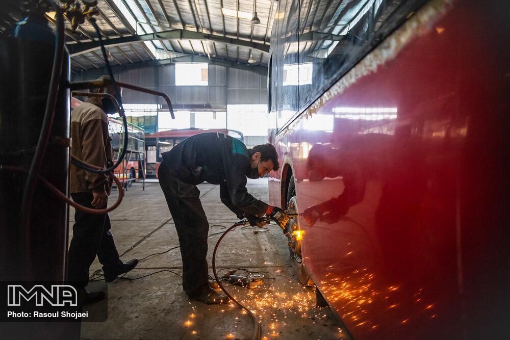 بازسازی اتوبوسهای شهری اصفهان