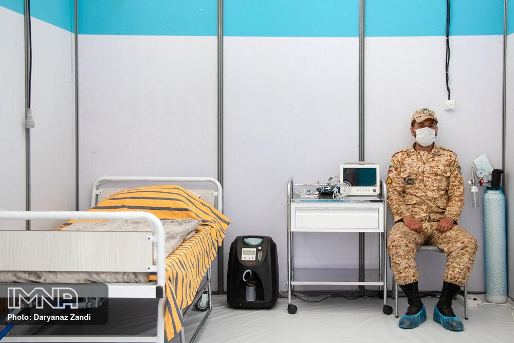 راه اندازی بیمارستان صحرایی ارتش در اصفهان