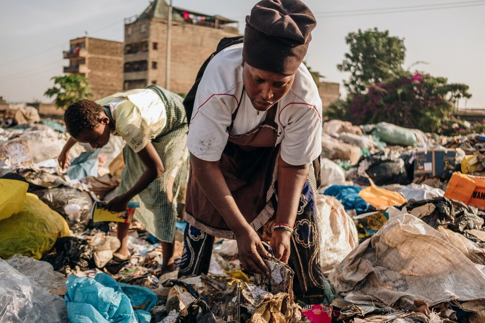 In Johannesburg, you can exchange trash for groceries