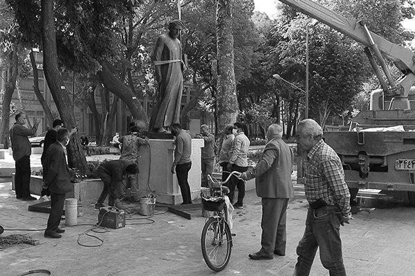 بازگشت مجسمه شیخ بهایی به چهارباغ