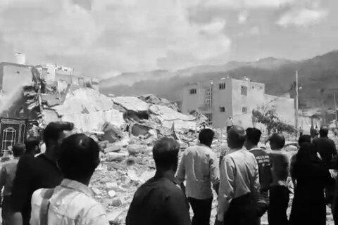 حادثه انفجار و تخریب دو منزل مسکونی در جهرم