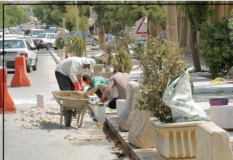 فضاسازی خیابان حافظ شیراز به مساحت ۸ هراز مترمربع