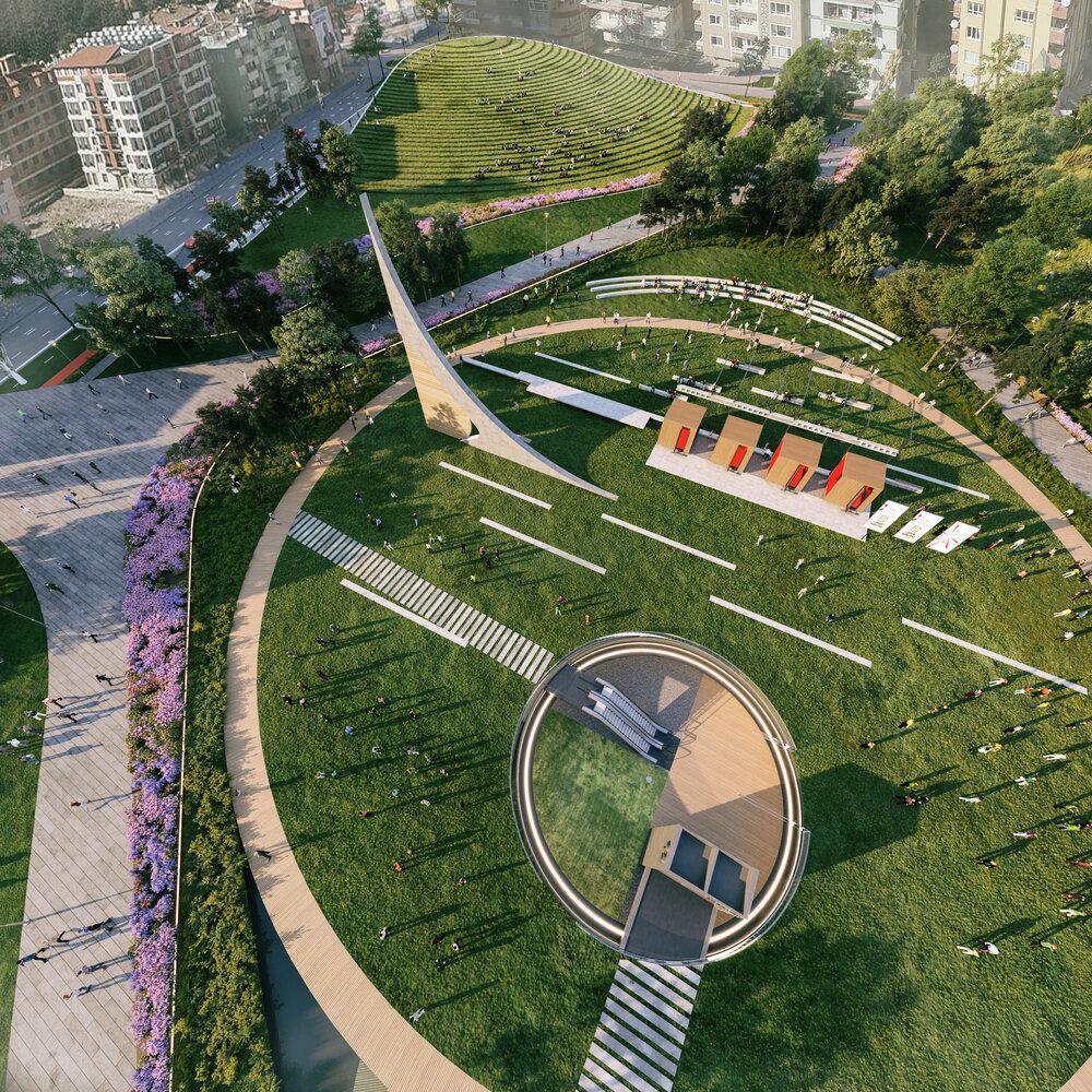 تبدیل یک استادیوم ورزشی متروکه به پارکی زیبا در ترکیه
