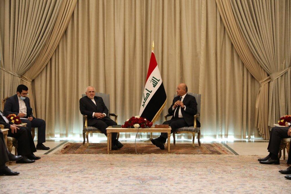 ظریف: از نقش محوری عراق در منطقه استقبال میکنیم