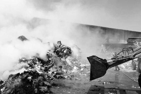 آتش سوزی در کارخانه بازیافت کارتن قلعه شور
