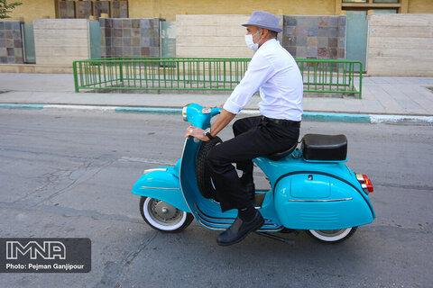 اصفهان گردی با موتورهای وسپا
