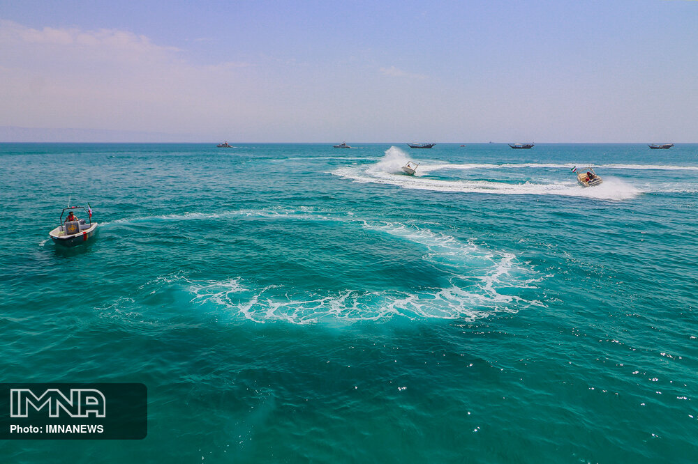 جزیره کیش در روز خلیج فارس