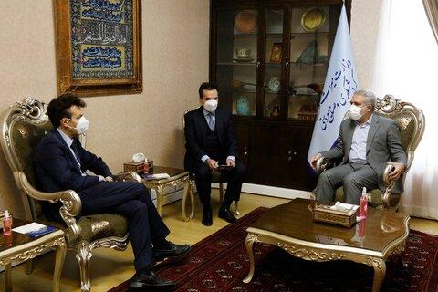 دیدار مونسان با سفیر ایتالیا در ایران