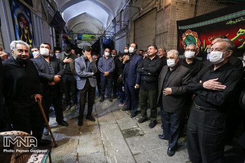 قافله عزای حضرت علی (ع) در بازار اصفهان
