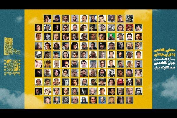 پایان داوری مرحله دوم جوایز آکادمی فیلم کوتاه ایران