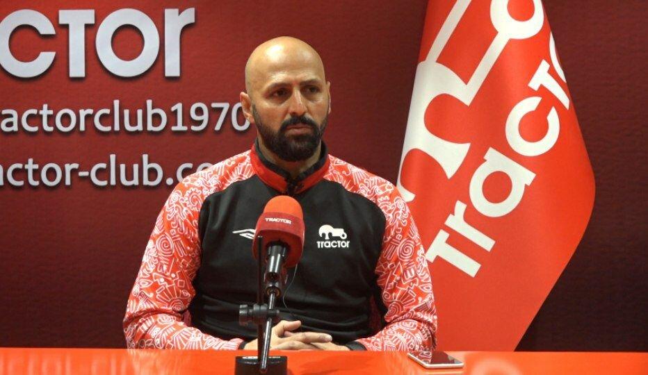 عبداللهی: خستگی در ساق پای بازیکنان تراکتور مشهود بود