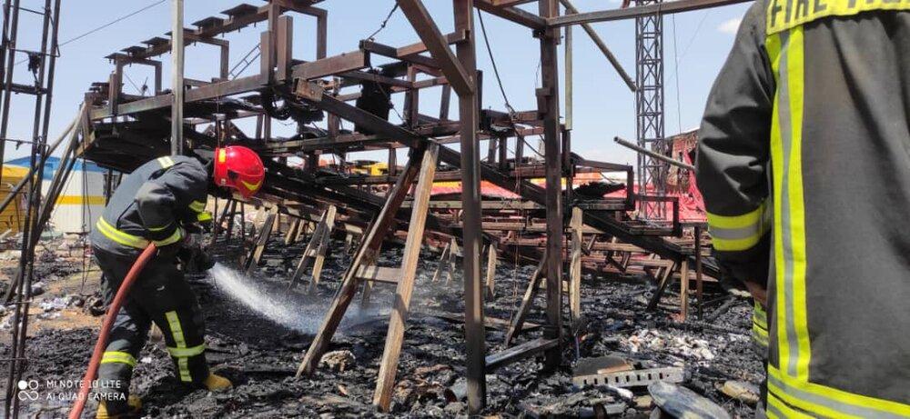 سیرک شیراز در محاصره شعلههای آتش+ عکس