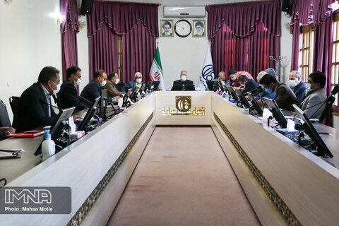 جلسه بررسی پروژه های شهرداری اصفهان