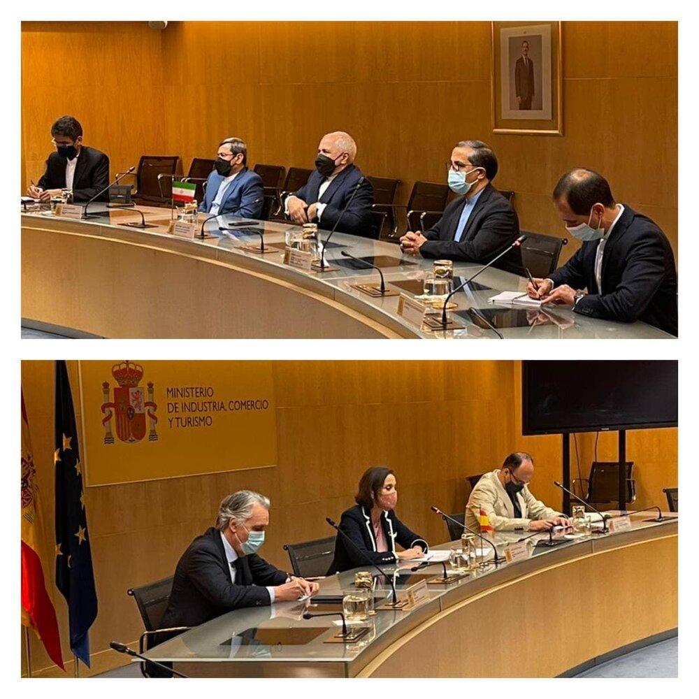 مذاکرات ظریف با مقامات اسپانیایی برای بهبود روابط اقتصادی دو کشور