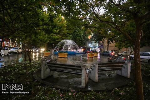 Isfahan in a rainy day