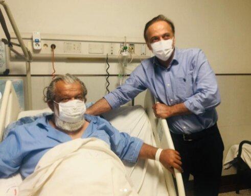 حسن پورشیرازی در بیمارستان بستری شد + عکس