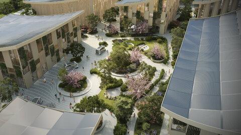 Futuristic smart city in Japan
