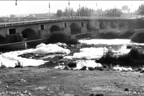 رهاسازی پساب فاضلاب در بستر زاینده رود