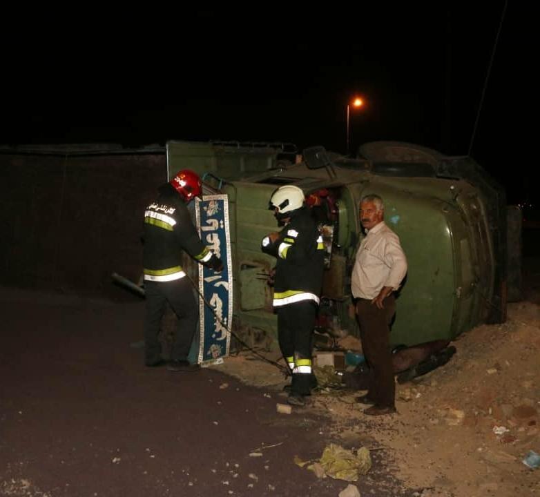 واژگونی همزمان ۳ کامیون حادثهساز شد+ عکس
