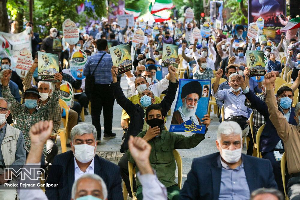 تجمع مردم اصفهان در حمایت از مظلومان افغانستان و فلسطین
