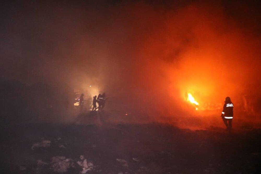 آتش سوزی در مراتع مشگین شهر مهار شد