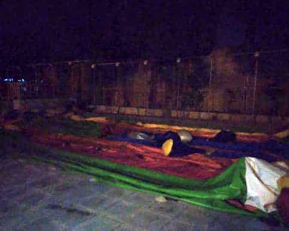 حادثه برای ۱۰ کودک به خاطر قطعی برق در شهربازی سمنان + عکس